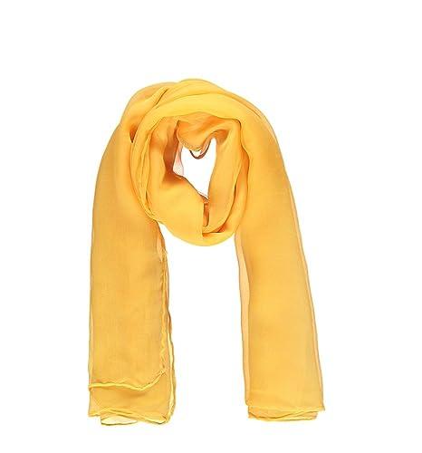 Foulard donna, giallo,voile di seta