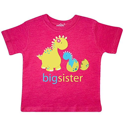 inktastic - Big Sister Blue Toddler T-Shirt 2T Retro Heather Pink