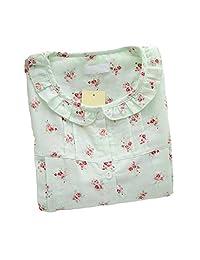 [Green Floral]Maternity Pajamas Nursing Pajamas Set Cotton Sleepwear Nightwear