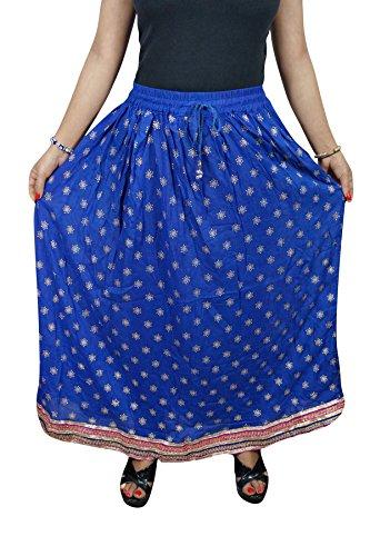 Interior Mogul Mujer Para Falda Blue Trapecio 1 gZZzS