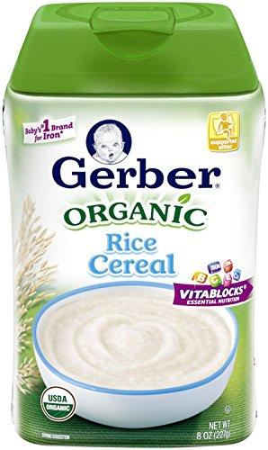 Gerber Organic Rice Cereal, 8 (Gerber Rice Organic)