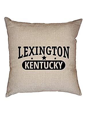 Hollywood Thread Trendy Lexington, Kentucky with Stars Decorative Linen Throw Cushion Pillow Case with Insert