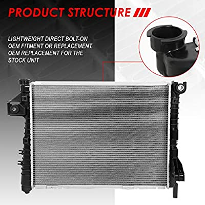 2813 OE Style Aluminum Core Radiator Replacement for Dodge Ram 1500 2500 3500 Pickup 5.7L V8 04-09: Automotive