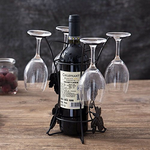Bwlzsp 1 PCS Iron art red wine cup shelf hanger hanger cup holder ornament cup Rack Hanger glass (Without bottles and cups) LU717235 by Bwlzsp