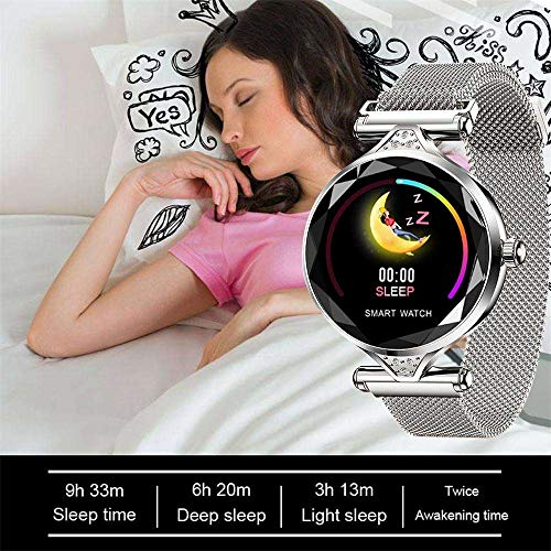 Fitness Tracker Smart Watch, Touch Screen Sports Running Smart Watch with Activity Tracker All-day Heart Rate Pressure with Long Battery Life Compare Compatible with iPhone XR/Galaxy Note 9, Silver by Businda (Image #4)
