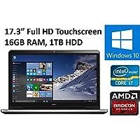 2016 Newest Dell Inspiron I5759 Flagship Laptop PC, 17.3 Full HD Touchscreen Display, Intel Core i7-6500U, 16GB DDR3L RAM, 1TB HDD, DVD+/-RW, AMD Radeon R5 M335, Backlit Keyboard, Windows 10