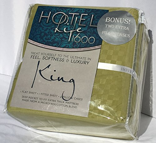 Hotel Life 1600 Sheets King Sage Green