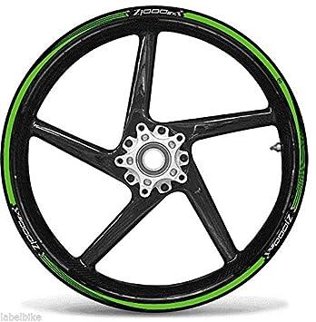 SET ADHESIVE STRIPS GREEN Compatible For Wheels 17 MOTORRAD KAWASAKI Z1000sx TUNING