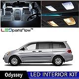 LEDpartsNow Honda Odyssey 2005-2010 Xenon White Premium LED Interior Lights Package Kit (11 Pieces) + Install Tool