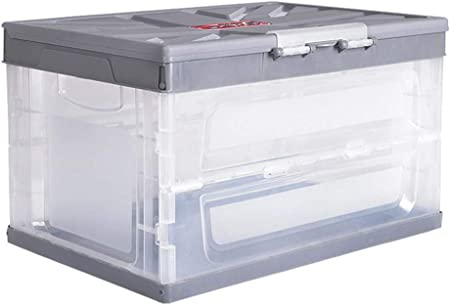 Transparente Cubo De Pesca Plegable Lavado Caja Plegable Cesta de la Utilidad Almacenamiento Plástico Cesto Apilables Cajas Almacenaje Ordenación Portátil Organizador,Gris: Amazon.es: Hogar