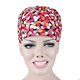 Opromo Womens Mens Adjustable Scrub Cap Bleach Friendly Banded Bouffant Hat