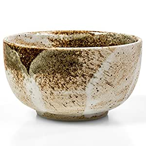 Tealyra - Matcha Bowl Beige - Authentic - Ceramic - Made in Japan - Chawan from Japanese Master-Craft - Matcha Tea Cup Ceremony Use
