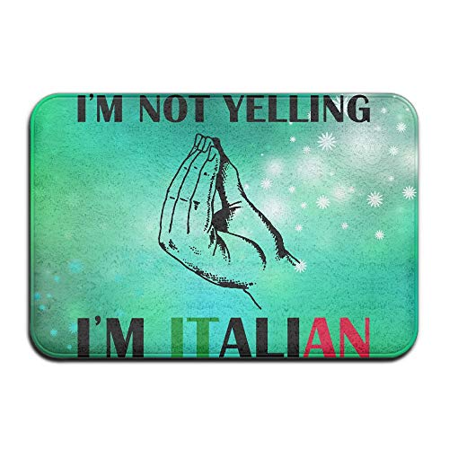 Cheap  Fuucc-6 Inside & Outside Floor Door Mat I'm Not Yelling I'm Italian..