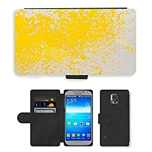 PU LEATHER case coque housse smartphone Flip bag Cover protection // M00151432 Acuarela Pintura Técnica // Samsung Galaxy S5 S V SV i9600 (Not Fits S5 ACTIVE)
