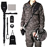 Camera Shoulder Strap Kit - Black Professional Quick Rapid Sling Belt with Mount Plate and Safety Cable for All DSLR SLR Cameras (canon sony nikon nylon olympus pentax fujifilm etc )