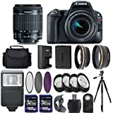 Canon EOS Rebel SL2 Digital SLR Camera + 18-55mm IS STM Lens + 2 X 32GB + 58mm Telephoto + Wide-Angle Lens + Filters + Flash + Case + Tripod - International Version (No Warranty)