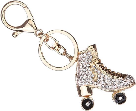 PRENKIN Patins à roulettes Chaussures en Cristal Porte clés