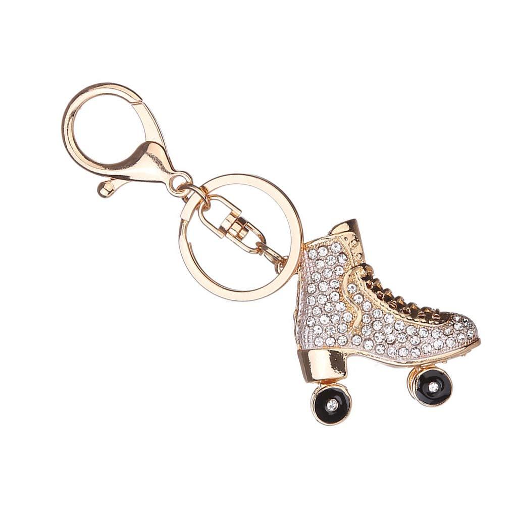 Regard L Patines de Ruedas de Zapatos de Cristal Llavero Bolso Keys Colgante Llavero Titular del Rhinestone