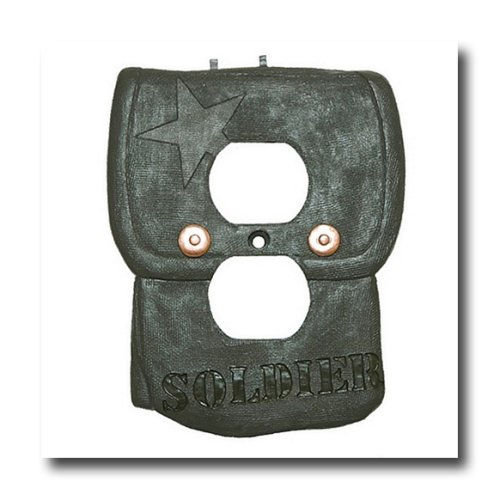 Military Wall Border - Borders Unlimited CAMO Military SOLDIER backpack camoflauge OUTLET COVER wall plate NEW