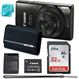 Canon PowerShot ELPH 190 Digital Camera w/ 10x Optical Zoom and Image Stabilization - Wi-Fi & NFC Enabled (Black) PLUS FREE CLEANING CLOTH