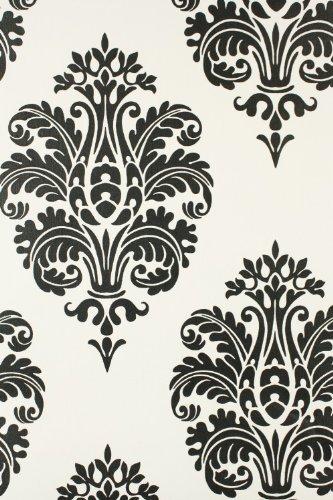 Tapetenmuster schwarz weiß  rasch Tapete BESTSELLER Barock Design 740943 schwarz weiß: Amazon ...