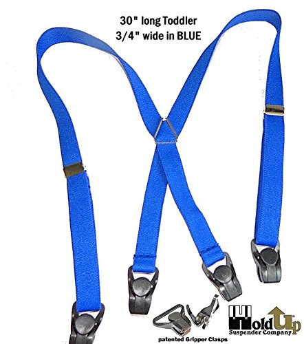 Hold-Ups 30 Toddler Blue Suspenders with Patented Gripper Clasps