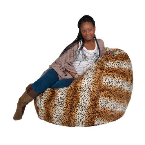 Cozy Sack 3-Feet Bean Bag Chair, Medium, Leopard Print