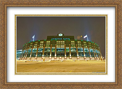 ted 38x28 Large Gold Ornate Framed Art Print from the Stadium Series (Field Gold Series Stadium)