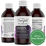 Cheap Cold-Pressed Black Cumin Seed Oil: Ultra Strength (Black seed oil, Nigella Sativa) | One of The Most Amazing Herbs! Premium, Pure and 100% Natural. 8 oz glass bottle