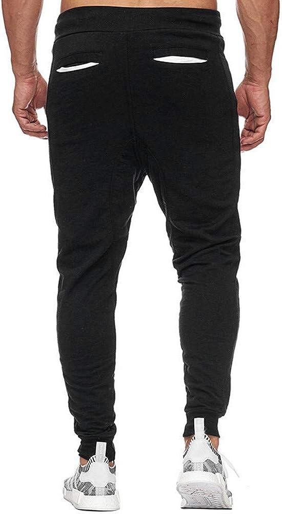 Mens Sport Pants NewlyBlouW Elastic Cuffed Casual Drawstring Sweatpants Training Jogger Athletic Pencil Trouser