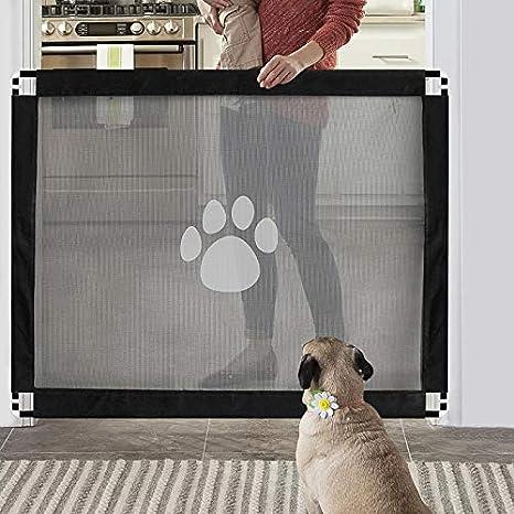 Namsan Barrera de Seguridad para Perros, Gateras para Perros, Instalación Fácil Bloqueable Vallas de Coche para Perros- Negro (80 x100 cm): Amazon.es: Bebé