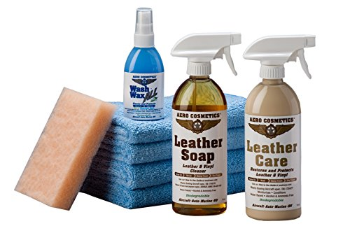 Aero Cosmetics Leather Care Kit with Leather