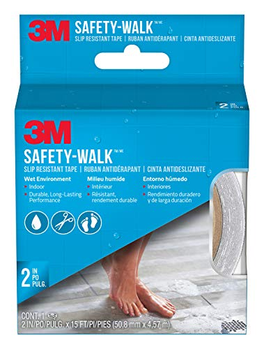 3M Safety 7641 Shower Tread, 2-Inch by 180-Inch, Clear from 3M Safety