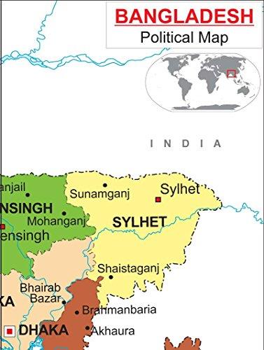 Amazon Com Political Map Of Bangladesh 36 W X 48 H Office