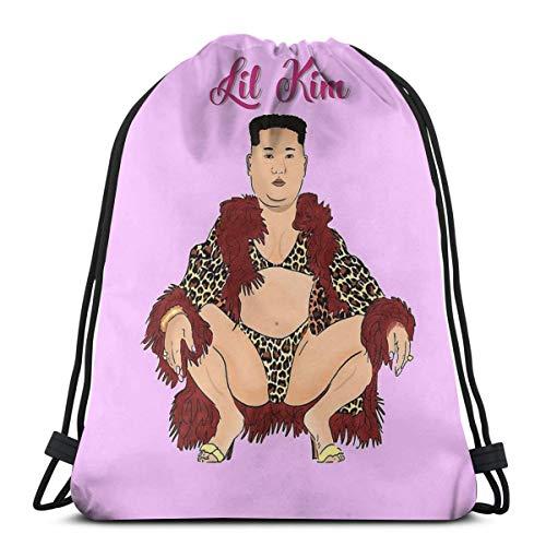 Lil Kim Drawstring Bag Sports Fitness Bag Travel Bag Gift Bag
