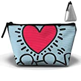 Unisex Stylish And Practical A Humorous Brotherhood Love Heart Shpae Trapezoidal Storage Bags Handbags