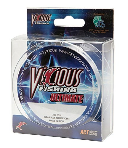 Vicious Fishing Ultimate 330 yd VCB-6 Fishing Line Clear/Blue/6 Lb