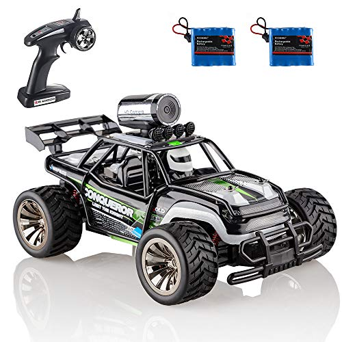 RC Cars KOOWHEEL RC Car for Adults and Kids with FPV Camera HD 720P Off Road Remote Control Cars with 2 Rechargeable Battery 1:16 Scale 2WD 2.4GHz Radio Remote Control Truck Monster High Speed Crawler