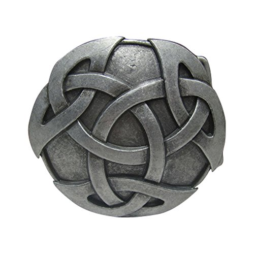Belt Buckles Clothing Accessories (E-Clover Mens Cowboy Western Style Celtic Knot Round Belt Buckle)
