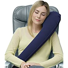 Travelrest - The Ultimate Travel Pillow / Neck Pillow - Ergonomic, Patented & Best Adjustable for Airplane, Auto, Bus, Train, Office Napping, Camping, Wheelchairs (Rolls Up Small) (Navy)