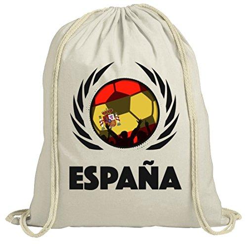 ShirtStreet Espana Spain Wappen Soccer Fussball WM Fanfest Gruppen Fan natur Turnbeutel Gym Bag Fußball Spanien Natur oLbtmjsTtQ