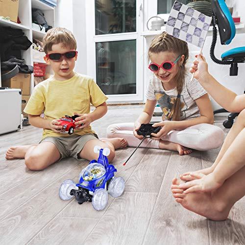 Coche teledirigido, Kizmyee Coche de acrobacias teledirigido, Coche de acrobacias RC con rotación de 360 °, Coches a control remoto Niñas Niños Vehículo Coche Juguete Regalos de 3 a 12 años
