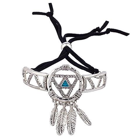 Lux Accessories Burnish Silver Dream Catcher Navajo Bracelet