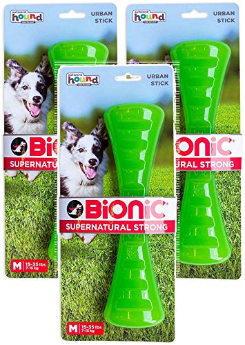 (Petstages 3 Pack of Bionic Urban Stick Durable Tough Fetch and Chew Toy for Dogs, Medium 15-35 Pounds)
