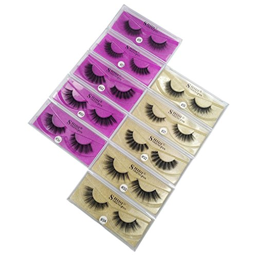 1 Pair Mink Eyelashes Natural Long Makeup False Lash 3D Mink