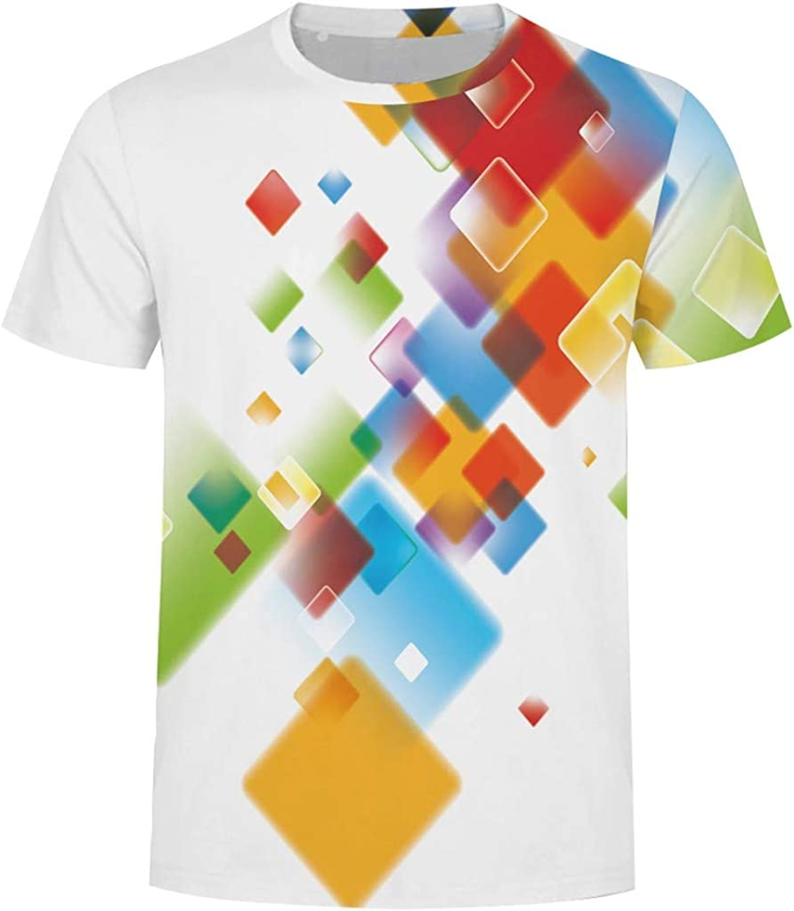Mens Printing Tees Shirt Short Sleeve T-Shirt Top Blouse Yutao Novelty Printing Tshirt