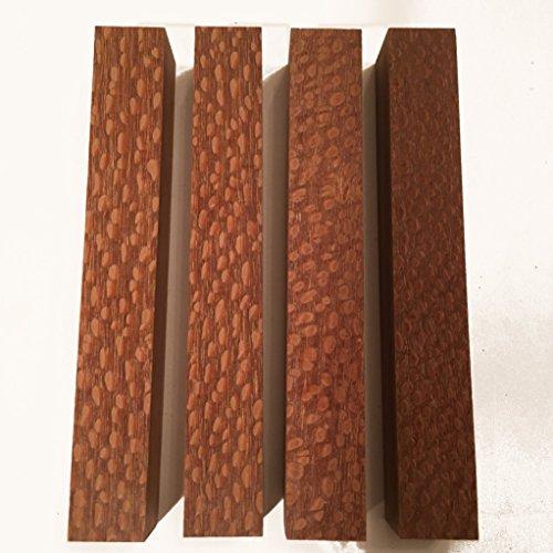 Exotic Turning Blanks - Lacewood aka Leopardwood 7/8 Inch Pen Blank - 4 Pack