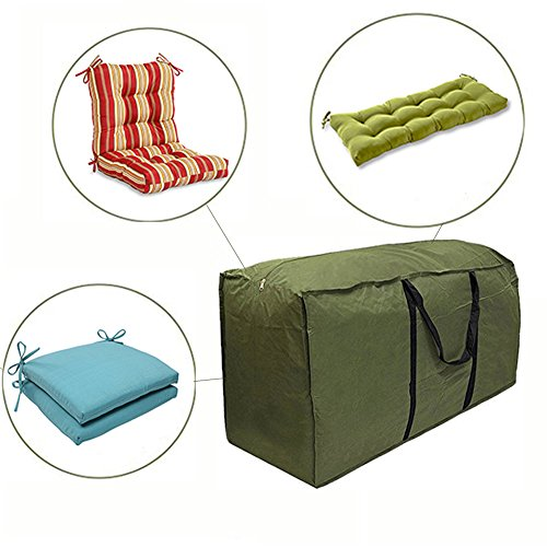 Cushion Storage Bags - Durable 210D Denier Outdoor Cushion Bags,Premium Zippered Patio Storage Bags with Handles by Rewido