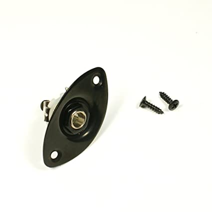 e13 output jack oval plate socket for jackson charvel ibanez black rh amazon com Input Jack Wiring Diagram Fender Strat Input Jack Wiring