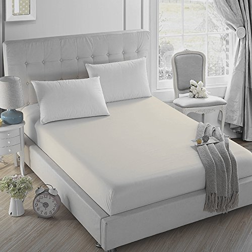 Price comparison product image 4U LIFE Bedding Fitted Sheet-Prime 1800 Series, Double Brushed Microfiber,Ultra-Soft Feel and Wrinkle,Fade Free, Deep Pocket for Oversized Mattress (Full, Dull Beige)